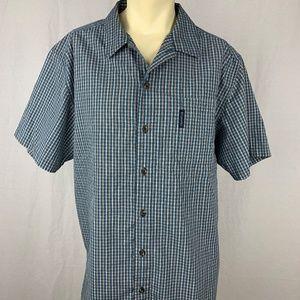 Columbia XCO Mens Button Front Shirt Size XL Blue